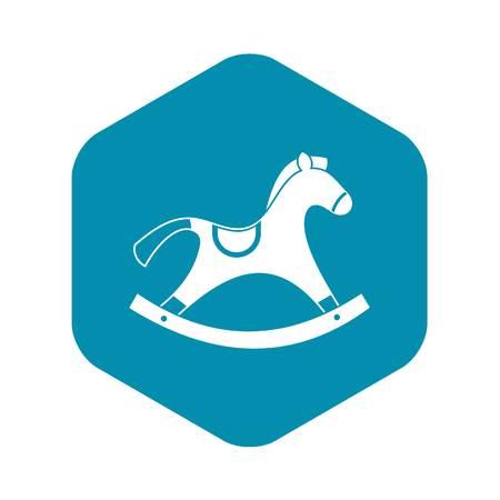 Rocking horse icon. Simple illustration of rocking horse vector icon for web Illustration