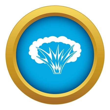 Atomical explosion icon blue vector isolated