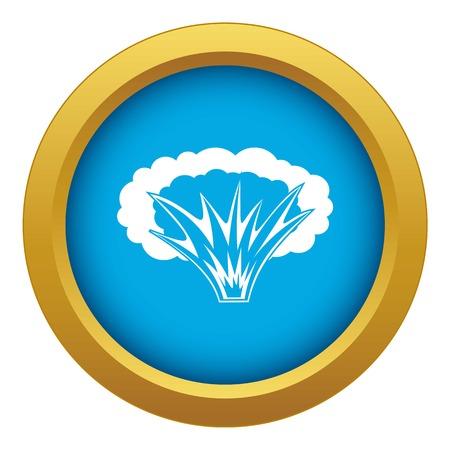 Icône d'explosion atomique vecteur bleu isolé