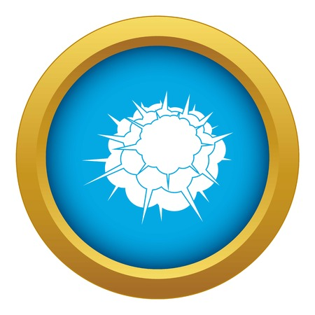Atomic explosion icon blue vector isolated 向量圖像