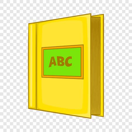 Abc book icon in cartoon style isolated on background for any web design