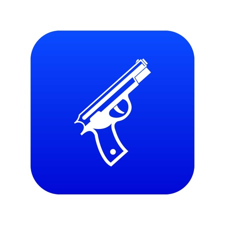 Gun icon digital blue