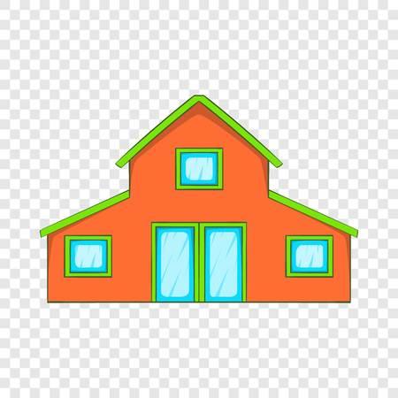 Little house icon, cartoon style