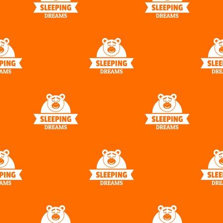 Sleeping dream pattern vector orange