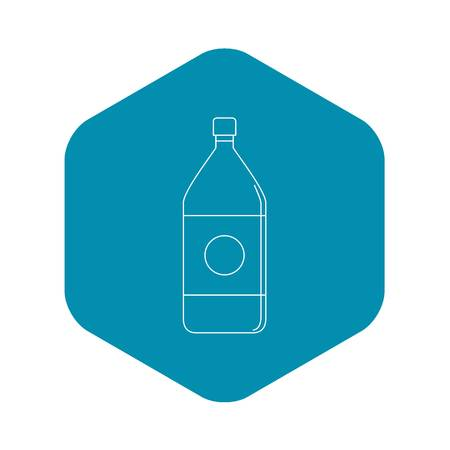 Water bottle icon, outline style 矢量图像