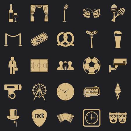 Occasion icons set, simple style