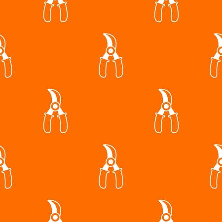 Grape scissors pattern vector orange Stock Illustratie