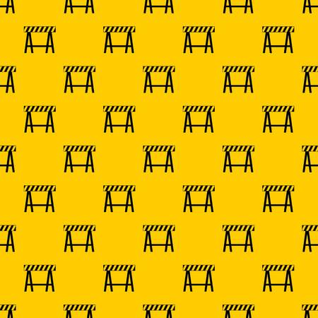 Traffic barrier pattern seamless vector repeat geometric yellow for any design