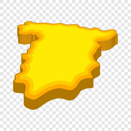Map of Spain icon in cartoon style isolated on background for any web design