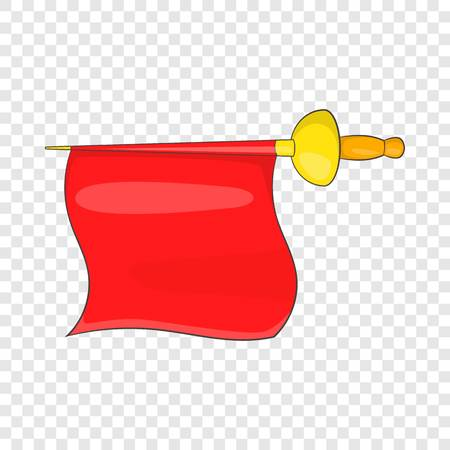 Matador red fabric icon in cartoon style isolated on background for any web design