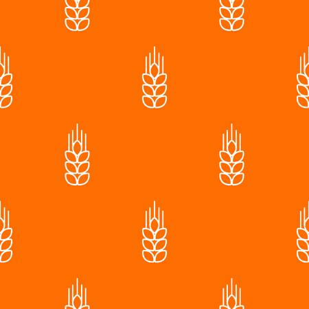 Wheat pattern vector orange for any web design best
