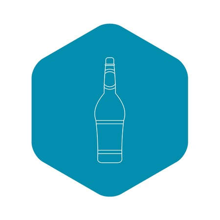 Design bottle icon, outline style