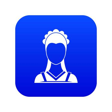Maid icon digital blue for any design isolated on white vector illustration Illustration