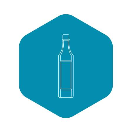 Vinegar bottle icon, outline style