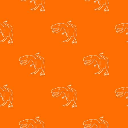 Dinosaur tyrannosaur pattern vector orange