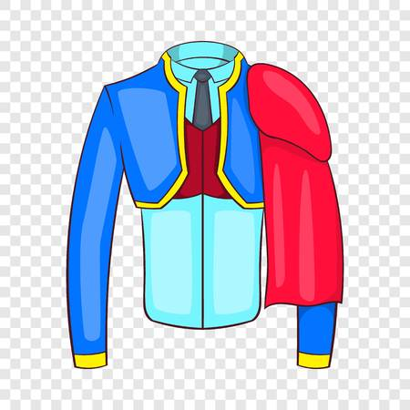 Spanish matador suit icon in cartoon style isolated on background for any web design
