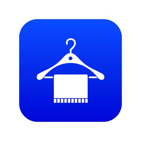 Scarf on coat hanger icon digital blue for any design isolated on white vector illustration Illustration
