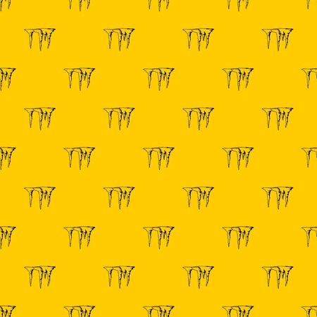 Icicles pattern seamless vector repeat geometric yellow for any design Illustration