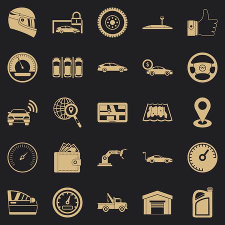 Car park icons set. Simple set of 25 car park vector icons for web for any design
