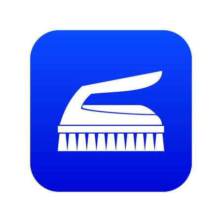 Brush for cleaning icon digital blue