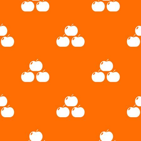 Apples pattern vector orange Illustration
