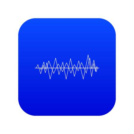 Sound wave icon digital blue for any design isolated on white vector illustration