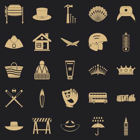 Napper icons set. Simple set of 25 napper vector icons for web for any design