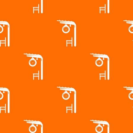 Platform railway pattern vector orange for any web design best