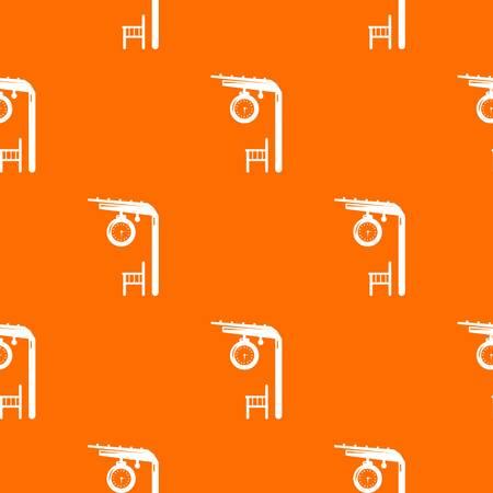 Platform railway pattern vector orange for any web design best