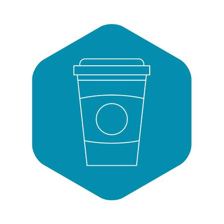 Take out coffee cup icon. Outline illustration of take out coffee cup vector icon for web