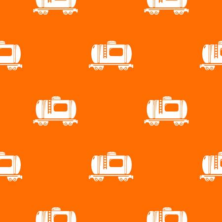 Gasoline railroad tanker pattern vector orange