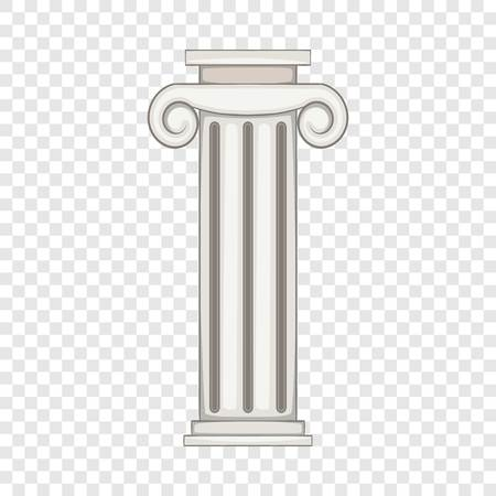Column icon, cartoon style 일러스트