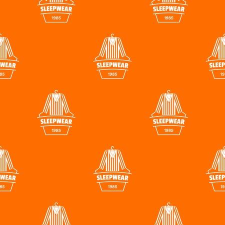 Sleepwear pattern vector orange