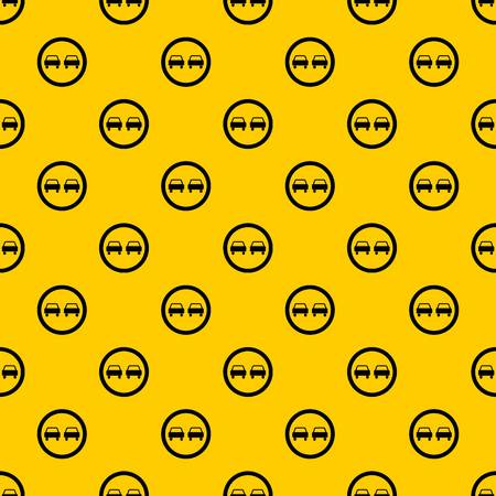 No overtaking road traffic sign pattern seamless vector repeat geometric yellow for any design Archivio Fotografico - 120787255