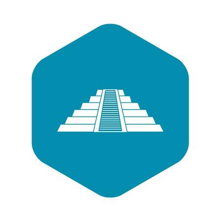 Ziggurat in Chichen Itza icon, simple style