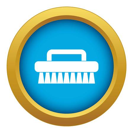Cleaning brush icon blue vector isolated on white background for any design
