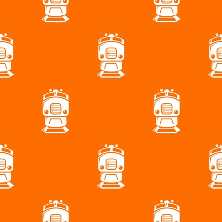 Train pattern vector orange
