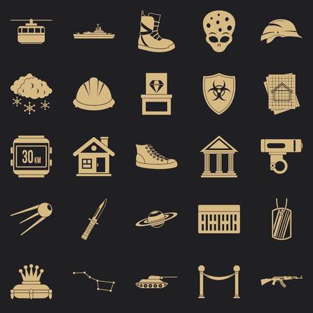 Slam icons set. Simple set of 25 slam vector icons for web for any design Illustration