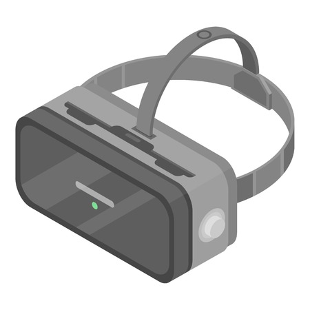 Game goggles icon, isometric style