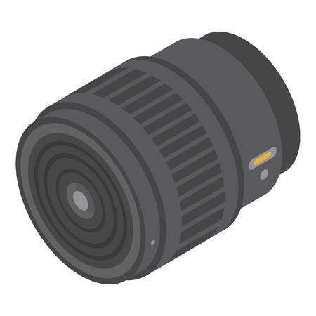Professional camera lens icon. Isometric of professional camera lens vector icon for web design isolated on white background 일러스트