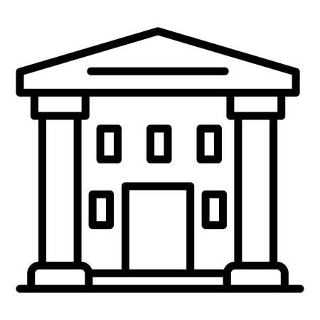 Icône du palais de justice suprême, style de contour