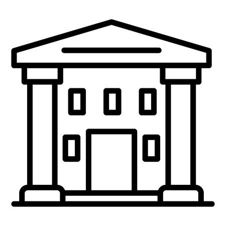 Supreme courthouse icon, outline style