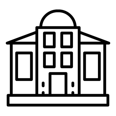 Courthouse building icon, outline style
