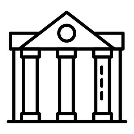 Column courthouse icon, outline style