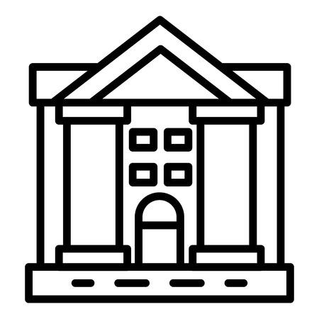 Justice courthouse icon, outline style Vektorové ilustrace