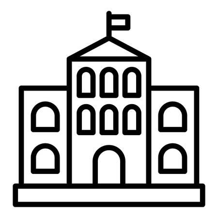 Architectural courthouse icon. Outline architectural courthouse vector icon for web design isolated on white background Illustration