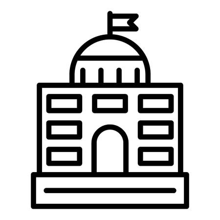 Governance courthouse icon, outline style