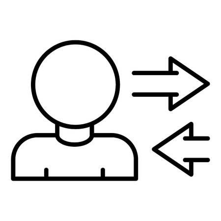 Man share car icon, outline style Illustration