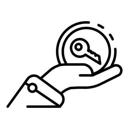 Share car key icon, outline style Illustration