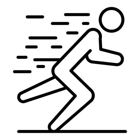 Man triathlon running icon, outline style